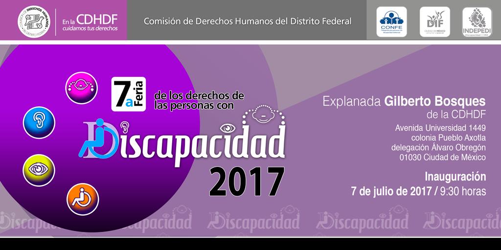 7ª Feria de los derechos de las personas con discapacidad 2017 @ CDHDF