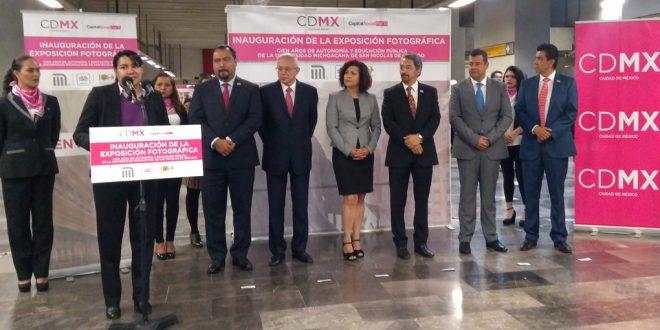 La CDHDF se congratula por los 100 años de autonomía y educación gratuita de la Universidad de San Nicolás de Hidalgo, en Michoacán, plasmados en exposición fotográfica