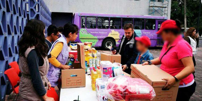 Galería: CDHDF abre 3 Centros de Acopio en apoyo a poblaciones afectadas por el sismo