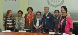 CDHDF sostiene encuentro con la Relatora Especial de las Naciones Unidas sobre los Derechos de los Pueblos Indígenas, Victoria Tauli-Corpuz