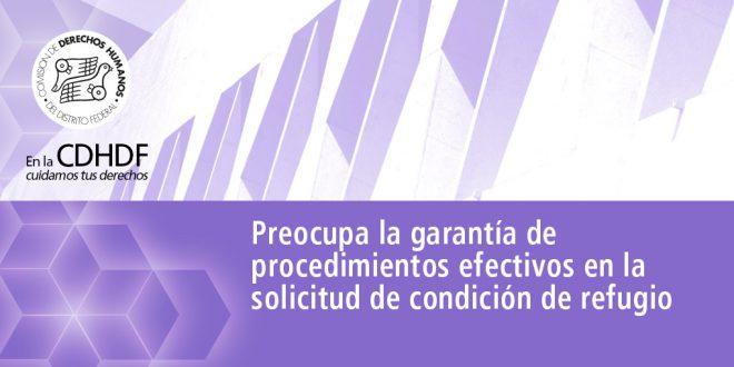 Preocupa la garantía de procedimientos efectivos en la solicitud de condición de refugio