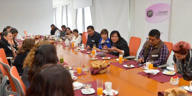 Entrevista a la Presidenta de la CDHDF, Nashieli Ramírez en la reunión con periodistas