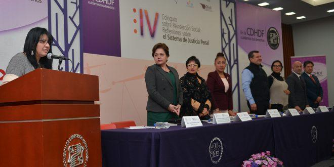 Discurso de la Presidenta de la CDHDF, Nashieli Ramírez Hernández, en la inauguración del IV Coloquio Reflexiones sobre el Sistema de Justicia Penal… en los Salones Digna Ochoa