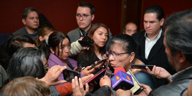 Entrevista a la Presidenta de la CDHDF Nashieli Ramírez, realizada en la sala de Consejo de este Organismo