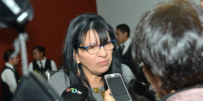 Entrevista a la Presidenta de la CDHDF, Nashieli Ramírez Hernández, en la Firma de Convenio con el COPRED, realizada en la sala de Consejo de la Comisión