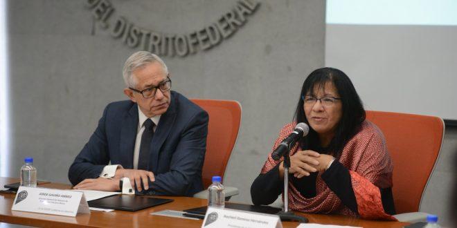 Sesión de preguntas y respuestas en la Firma de Convenio Marco de Colaboración Institucional entre la CDHDF y el Sistema de Transporte Colectivo Metro