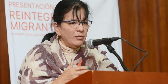 Discurso de la Presidenta de la CDHDF, Nashieli Ramírez en la presentación del libro Reintegración Migrante