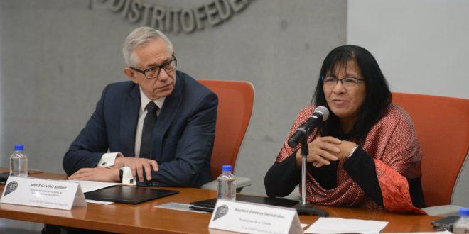 Palabras de la Presidenta de la CDHDF, Nashieli Ramírez Hernández, durante la Firma del Convenio Marco de Colaboración Institucional con el Sistema de Transporte Colectivo Metro