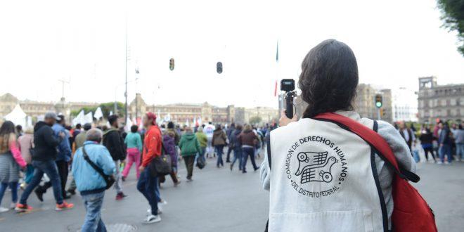 Galería: CDHDF acompañó marcha unitaria contra la Reforma Laboral