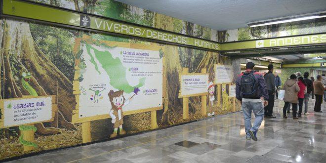 Galería: Inauguración de estación ¡Que viva la Selva Lacandona! en Metro Viveros / Derechos Humanos