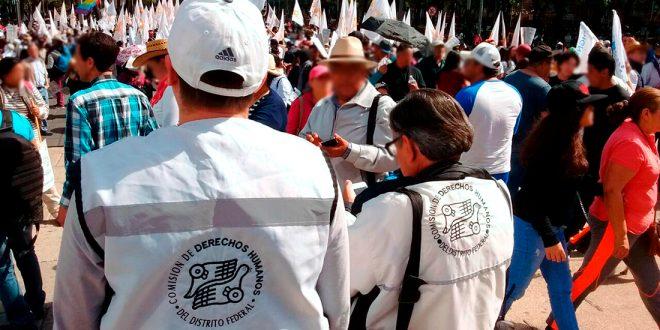 Galería: CDHDF acompaña movilización #CaravanaPorLaDignidad