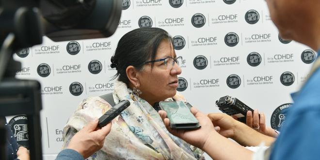 """Entrevista a la Presidenta de la CDHDF, Nashieli Ramírez, en la inauguración Conversatorio: """"Las mujeres en el trabajo, miradas diversas"""""""