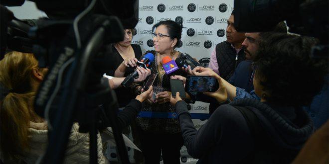 Entrevista a la Presidenta de la CDHDF, Nashieli Ramírez Hernández, en la Primera Audiencia Pública para Identificar Problemáticas y Documentar Presuntas Violaciones a Derechos Humanos que Enfrentan las Personas Damnificadas en la Ciudad de México, por los Sismos de Septiembre de 2017