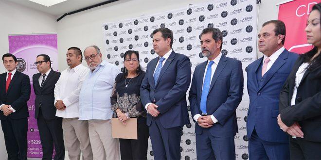 Galería: Conferencia integrantes del Consejo de CDHDF, Secretario de Finanzas, Titular de la Unidad de Inteligencia Financiera y Secretario de Gobierno CDMX