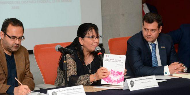 """Discurso de la Presidenta de la CDHDF, Nashieli Ramírez Hernández, en la Presentación del Libro """"Desigualdad Económica, Pobreza y Movilidad Social"""""""