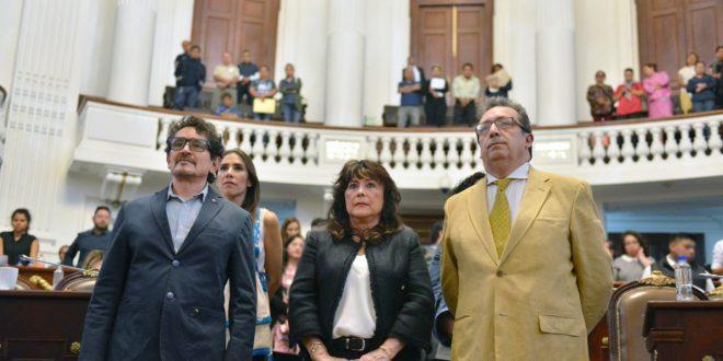 Consejera y Consejeros de la CDHDF, Genoveva Roldán Dávila, Christian José Rojas Rojas y Alejandro Brito Lemus, rindieron protesta