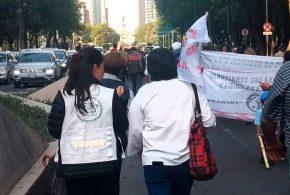 Galería: CDHDF acompañó marcha de personas afectadas por los sismos en Oaxaca.