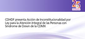CDHDF presenta acción de inconstitucionalidad por Ley para la Atención Integral de las Personas con Síndrome de Down de la Ciudad De México