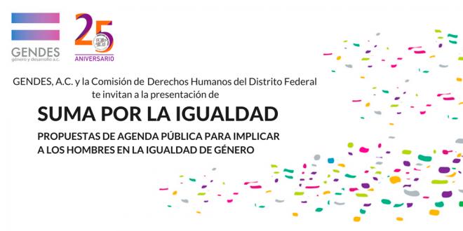 Suma por la Igualdad «Propuestas de agenda pública para implicar a los hombres en la igualdad de género»