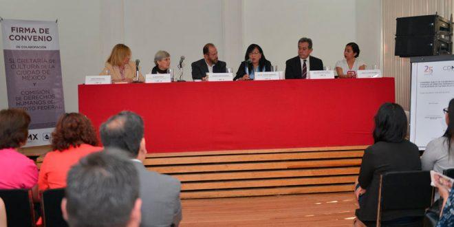 Discurso de la Presidenta de la CDHDF, Nashieli Ramírez Hernández, en la Firma de Convenio de Colaboración entre CDHDF y Secretaría de Cultura de la CDMX