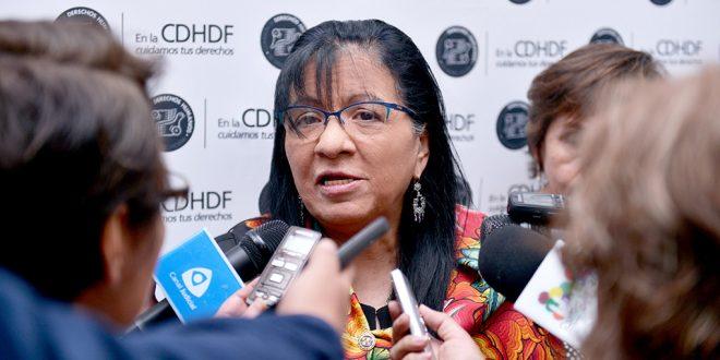 Entrevista a la Presidenta de la CDHDF, Nashieli Ramírez Hernández, al término de la presentación de la Recomendación 1/2018
