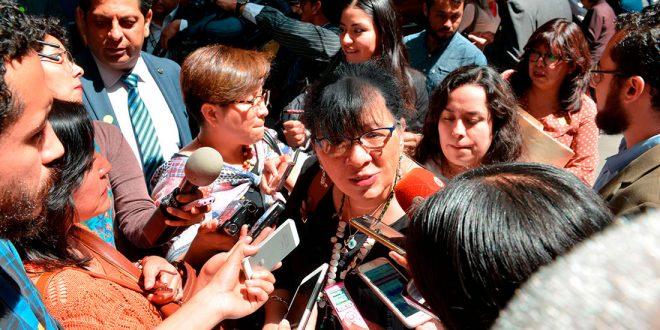 Entrevista a la Presidenta de la CDHDF, Nashieli Ramírez Hernández, durante la ceremonia de conmemoración por el Día de Lucha Contra la Homofobia y la Transfobia
