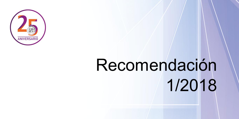 Presentación de la Recomendación 1/2018 @ CDHDF