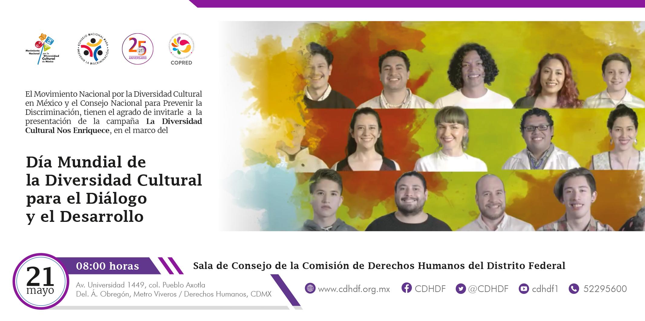 Conferencia en el marco del Día Mundial de la Diversidad Cultural para el Diálogo y el Desarrollo @ CDHDF