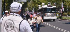 Galería: CDHDF acompañó marcha de maestros de la CNTE