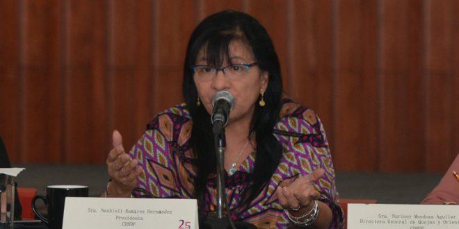 Entrevista a la Presidenta de la CDHDF, Nashieli Ramírez Hernández, en la presentación del Programa de Atención a Personas Extranjeras (PAE)