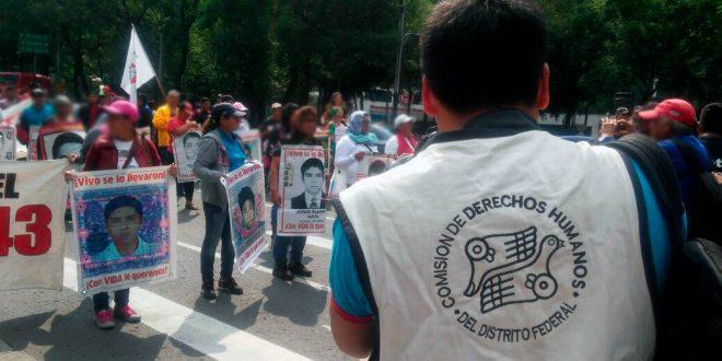 Galería: CDHDF acompañó marcha #Ayotzinapa45meses