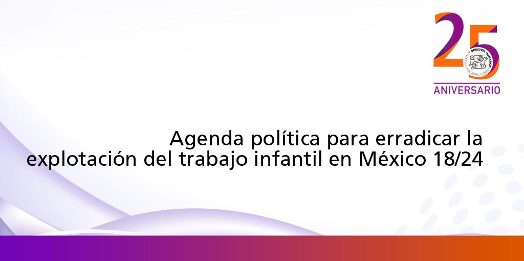 Agenda política para erradicar la explotación del trabajo infantil en México 18/24 @ CDHDF