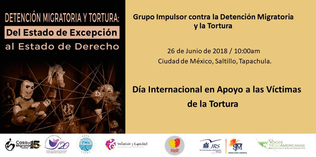 Conferencia de Prensa del Grupo Impulsor contra la Detención Migratoria y la Tortura @ CDHDF