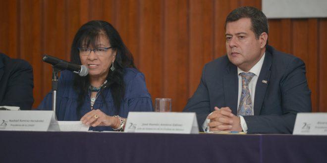 Discurso de la Presidenta de la CDHDF, Nashieli Ramírez Hernández, en el Foro: El Derecho a Manifestarse y a la Protesta Social en la Ciudad de México.