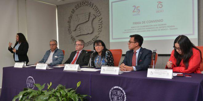 Discurso de la Presidenta de la CDHDF, Nashieli Ramírez Hernández, en la Firma del Convenio Marco de Colaboración con la Universidad Iberoamericana (UIA) Ciudad de MÉXICO-TIJUANA