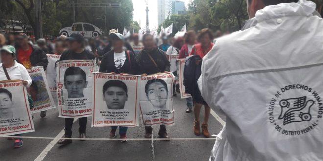Galería: CDHDF acompañó marcha #Ayotzinapa46meses