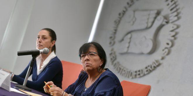 Palabras de la Presidenta de la CDHDF, Nashieli Ramírez Hernández, después de la reunión con la Doctora Claudia Sheinbaum Pardo.