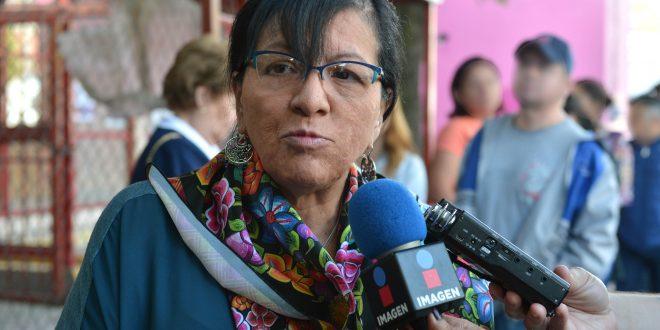 Entrevista a la Presidenta de la CDHDF, Nashieli Ramírez Hernández, luego de emitir su voto.