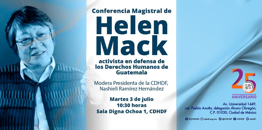 Conferencia Magistral de Helen Mack @ CDHDF