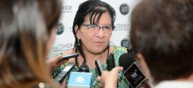 Entrevista a la Presidenta de la CDHDF, Nashieli Ramírez Hernández, al término de la Conferencia Magistral de Helen Mack