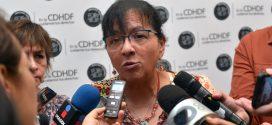 Entrevista a la Presidenta de la CDHDF, Nashieli Ramírez Hernández, luego de la inauguración del Encuentro Intersectorial, Agenda de Prioridades para Poner Fin a la Violencia contra Niñas, Niños y Adolescentes.