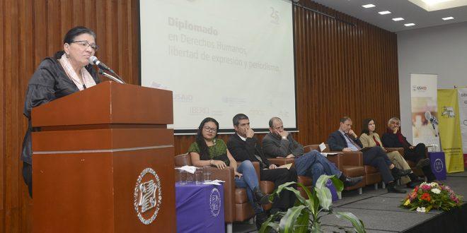 """Discurso de la Presidenta de la CDHDF, Nashieli Ramírez Hernández, en la inauguración del """"Diplomado de Derechos Humanos, Libertad de Expresión y Periodismo""""."""
