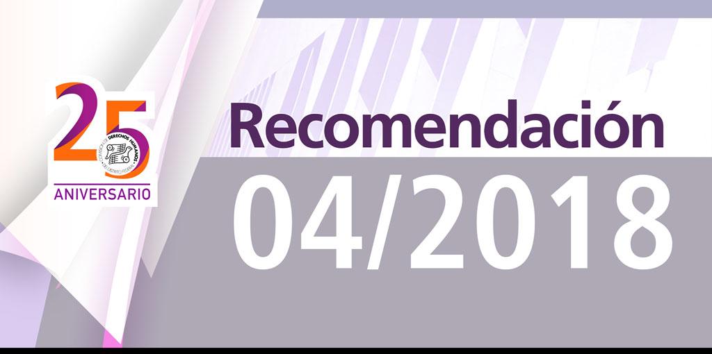 Presentación Recomendación 04/2018 @ CDHDF