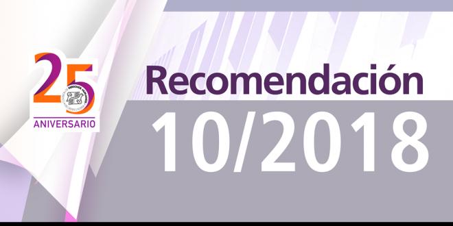 Recomendación 10/2018