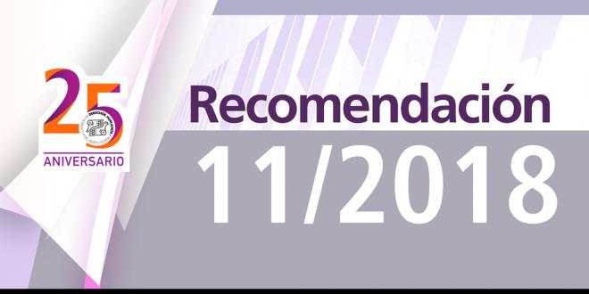 Recomendación 11/2018