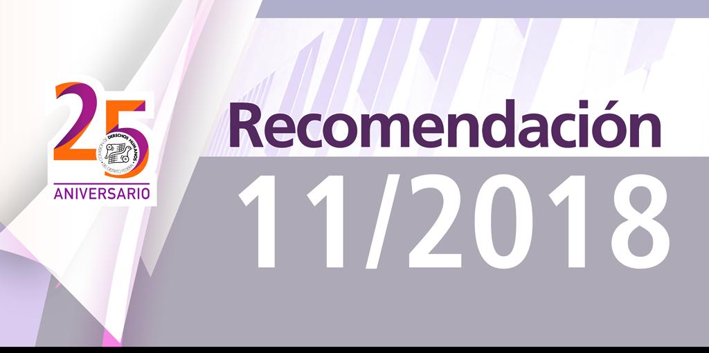 Presentación de la Recomendación 11/2018 @ CDHDF