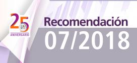 Recomendación 07/2018