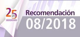 Recomendación 08/2018