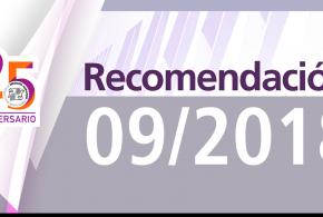 Recomendación 09/2018