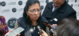 Entrevista a la Presidenta de la CDHDF, Nashieli Ramírez Hernández, en la presentación de las Recomendaciones 12/2018 y 13/2018